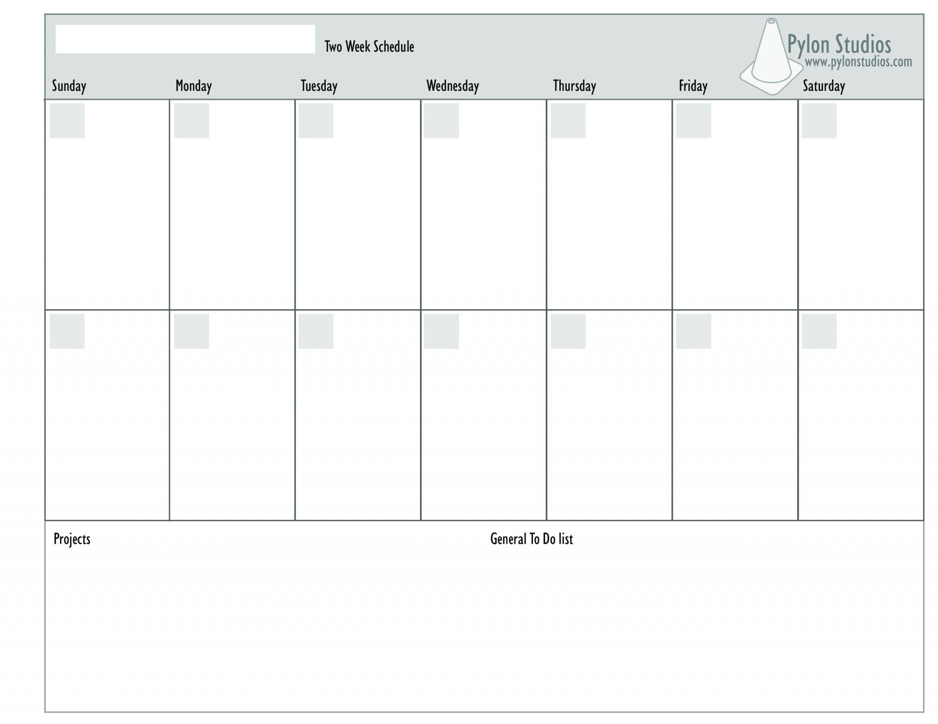 002 Template Ideas Printable Week Calendar For Two-Monday To Friday 2 Week Calendar Template