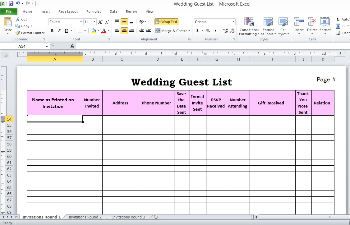 003 Guest List Template Excel Best Ideas Sample Wedding-Event Guest List Template Excel