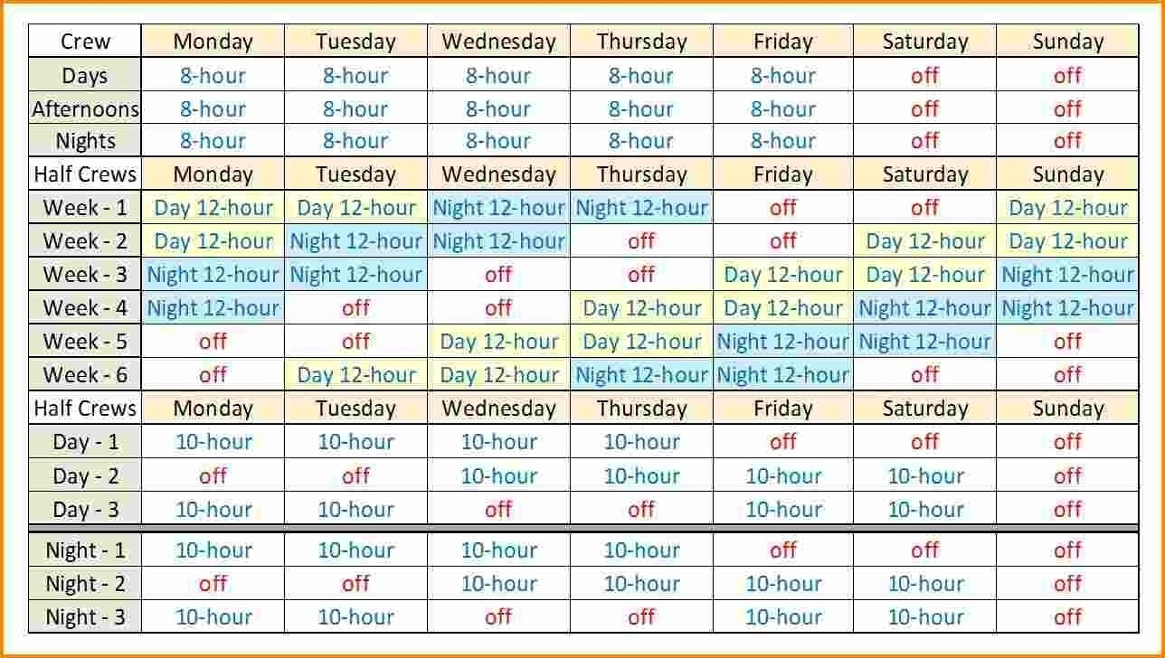 005 20Hour Shift Schedules Template Excel Calendar Printable-Shift Planner Templates Printable
