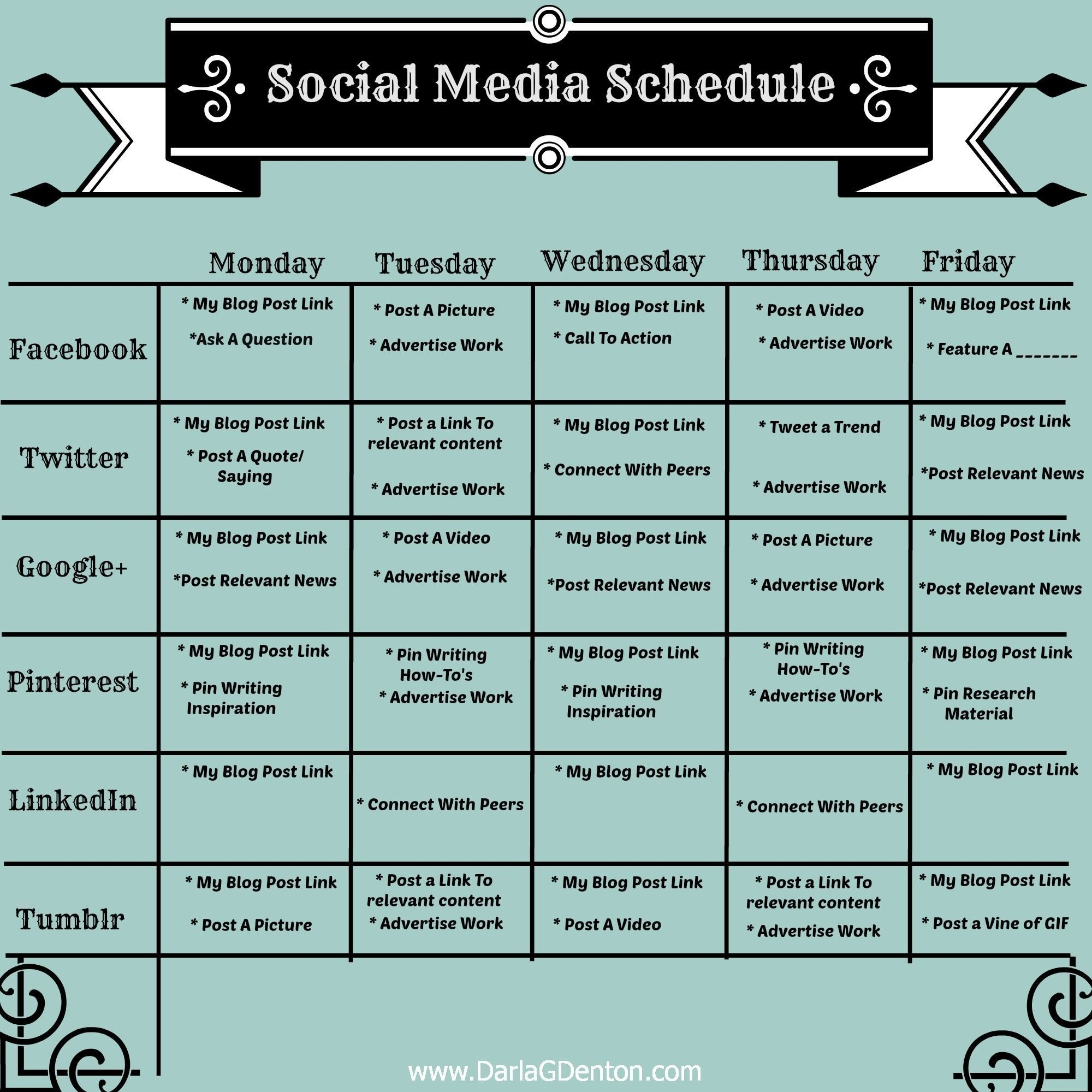 006 Social Media Posting Schedule Template Best Ideas Free-Social Media Posting Schedule Template
