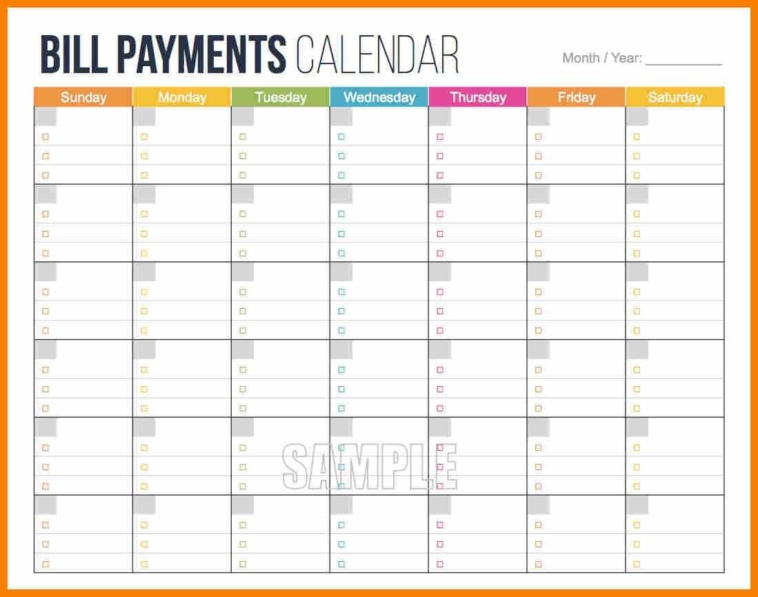 008 Template Ideas Bill Pay Schedule Calendar 2 Unusual Free-Free Printable Bill Calendar Templates