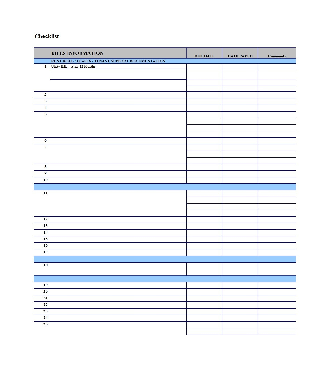 011 Monthly Bill Template Pay Checklist Plan Fascinating-Free Bill Pay Templates Printable