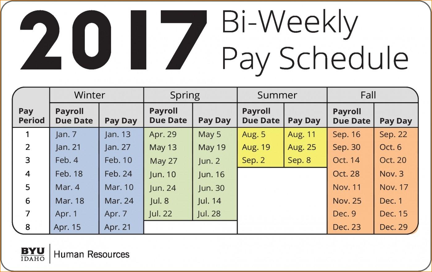 025 Bi Weekly Pay Calendar Template Payroll Calendars-Bi Weekly Pay Schedule 2020 Template
