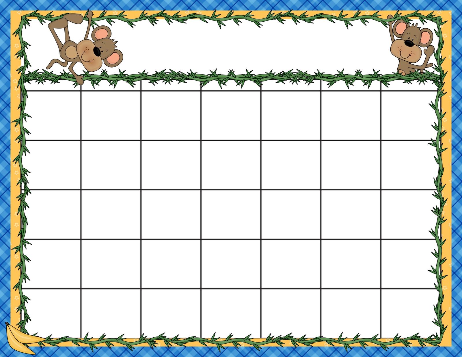 025 Unit Plan Calendar Template Templates Preschool-Preschool Word Excel Calendar Template
