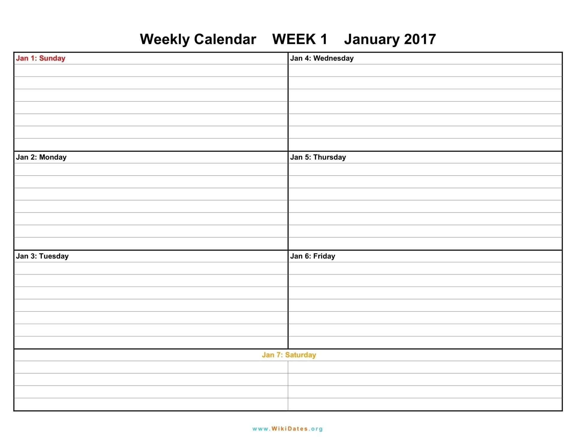 1 Week Blank Calendar Template | Template Calendar Printable-1 Week Blank Calendar Printable