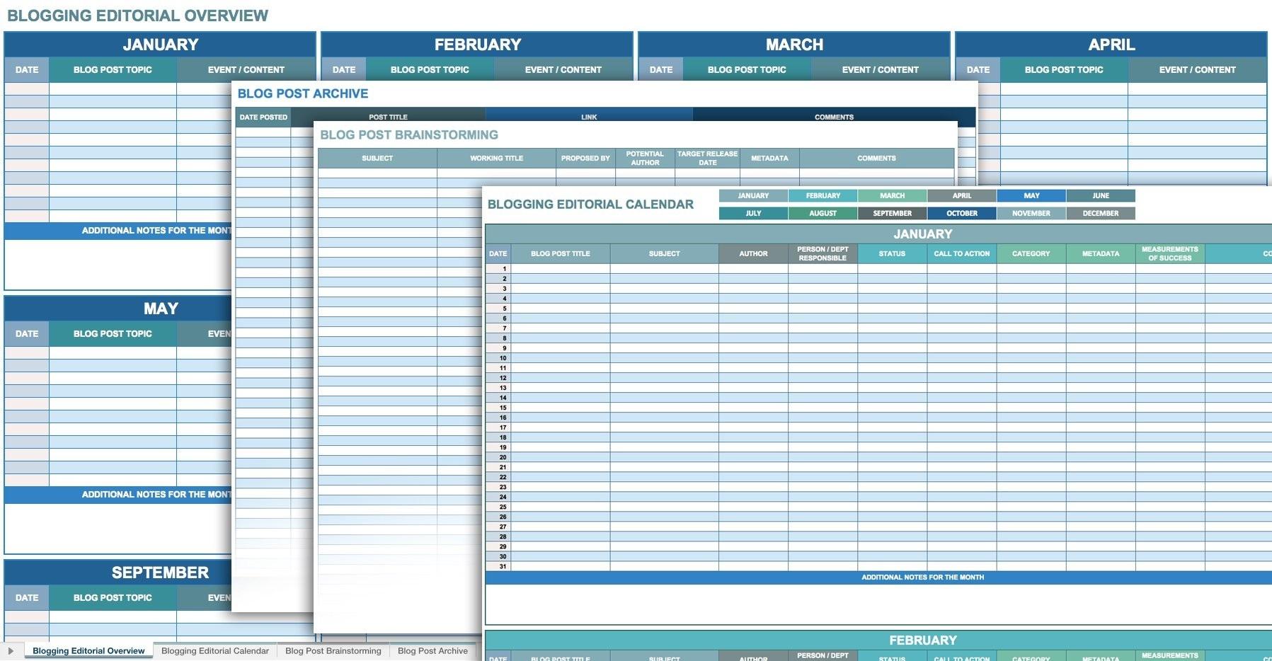 12 Free Social Media Templates | Smartsheet-Social Media Posting Calendar Template