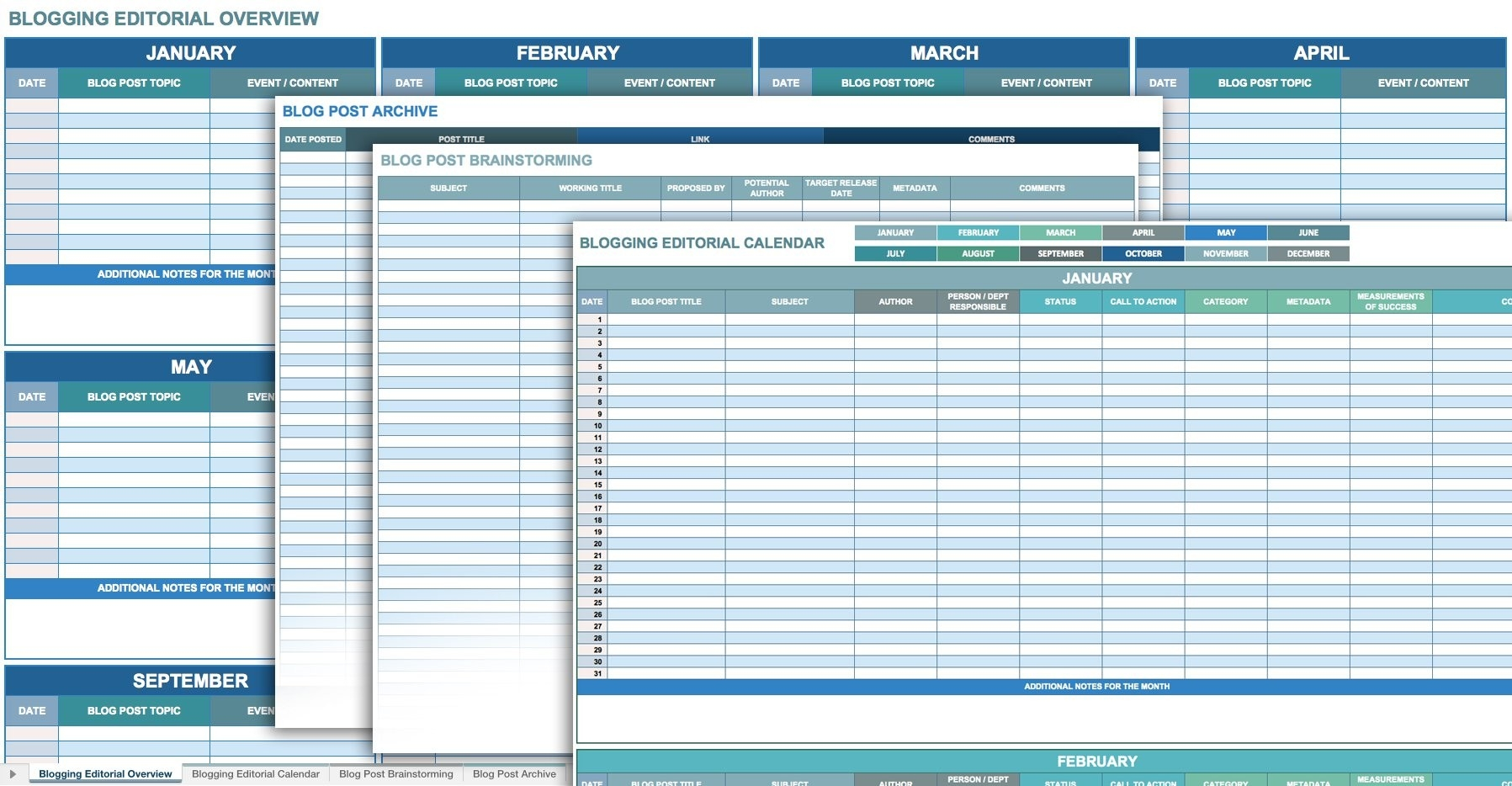 12 Free Social Media Templates | Smartsheet-Social Media Posting Schedule Template