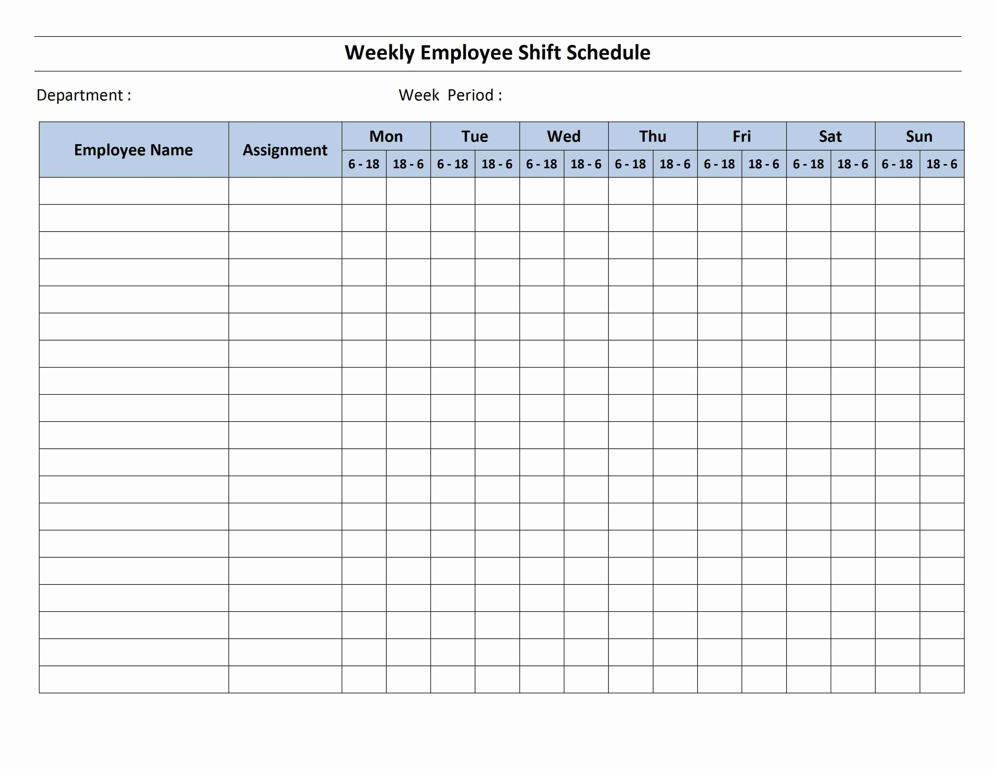 12 Hour Shift Schedule Template-12 Hour Schedule Templates