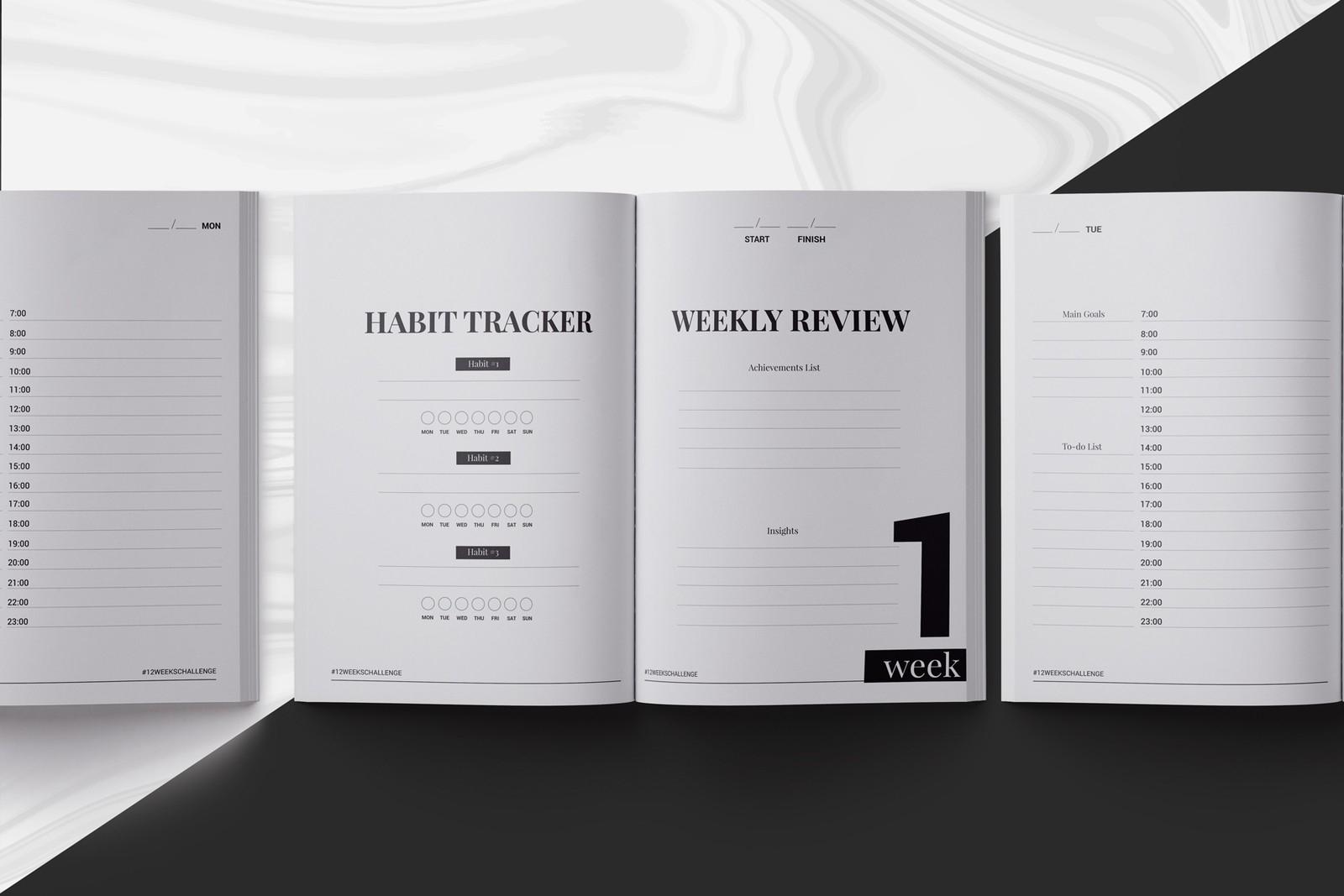 12 Weeks Planner Indesign Template In Brochure Templates On-Planner Templates For Indesign