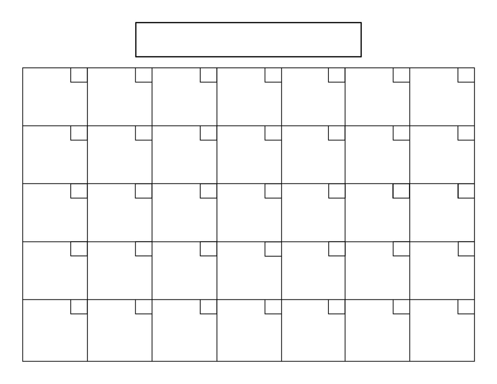 15 Calendar Grid Template Images - Blank Calendar Grid-Free Printable Blank Calendar Grid
