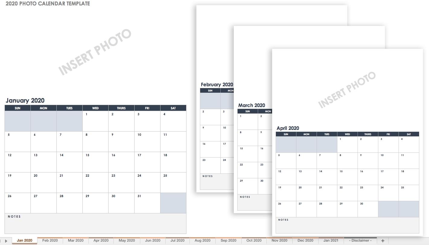15 Free Monthly Calendar Templates | Smartsheet-Monthly Calendar Starts On Monday