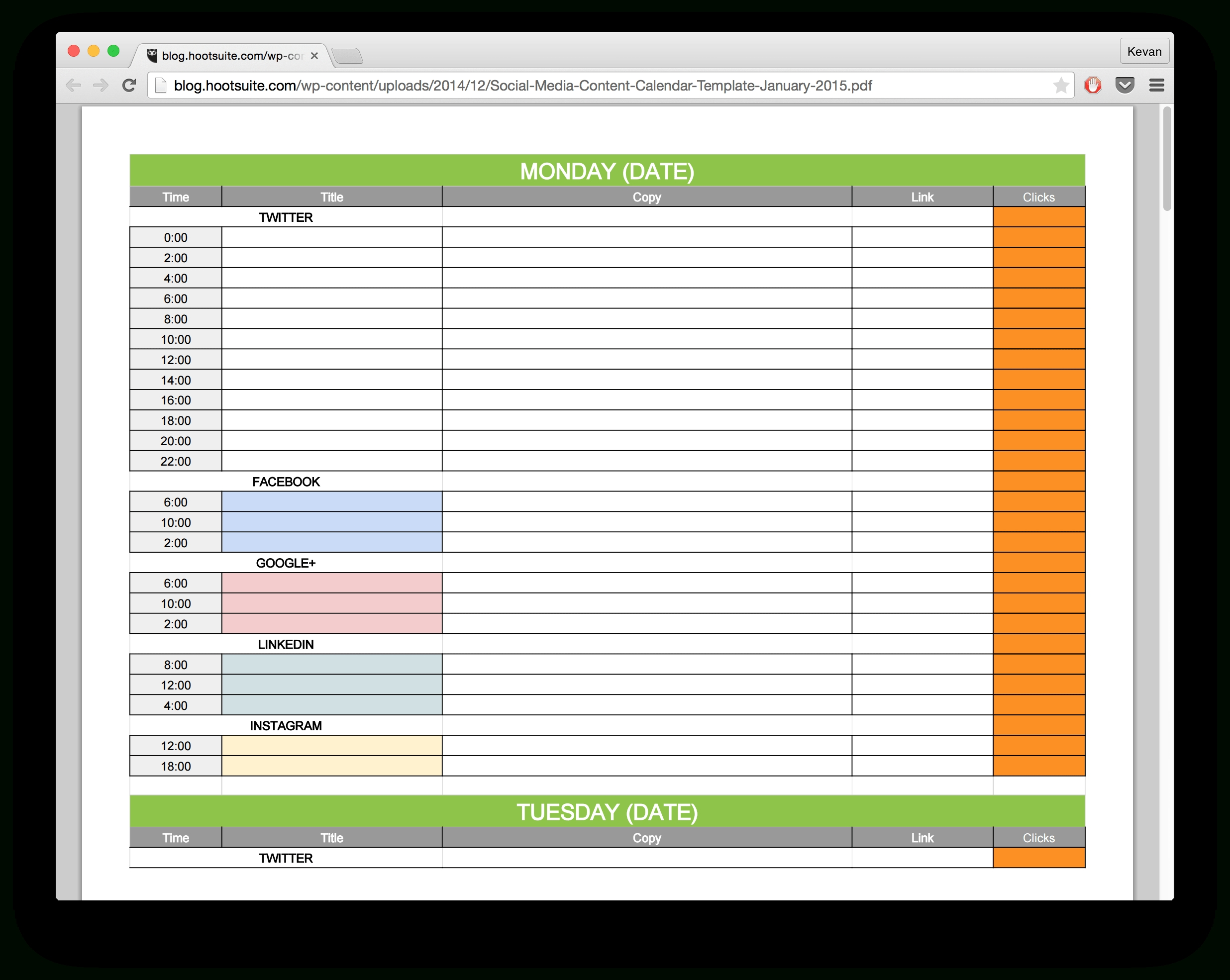 15 New Social Media Templates To Save You Even More Time-Social Media Posting Schedule Template