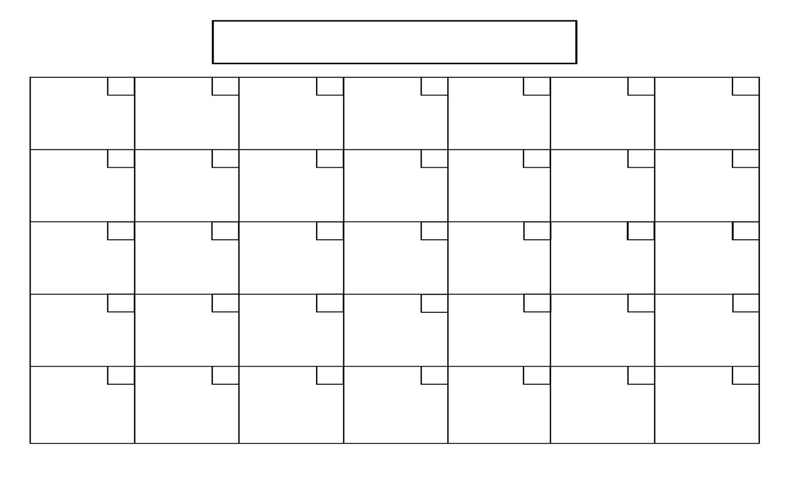 16 Simple Blank Calendar Template Images - Full Size Blank-Free Printable Blank Calendar Grid