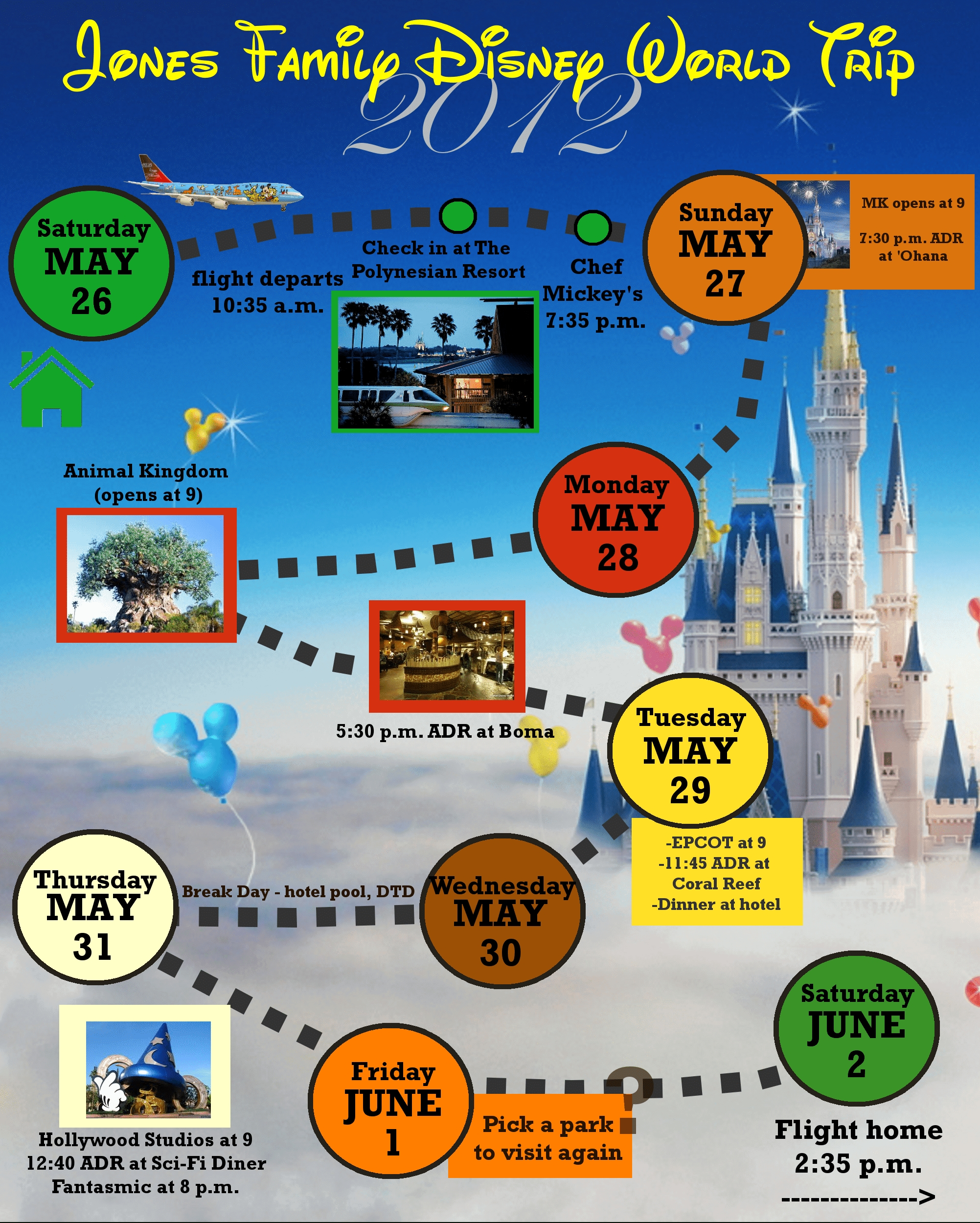 2 Custom Disney World Itinerary Templates | Wdw Prep School-Fillable Itinerary Template Disney