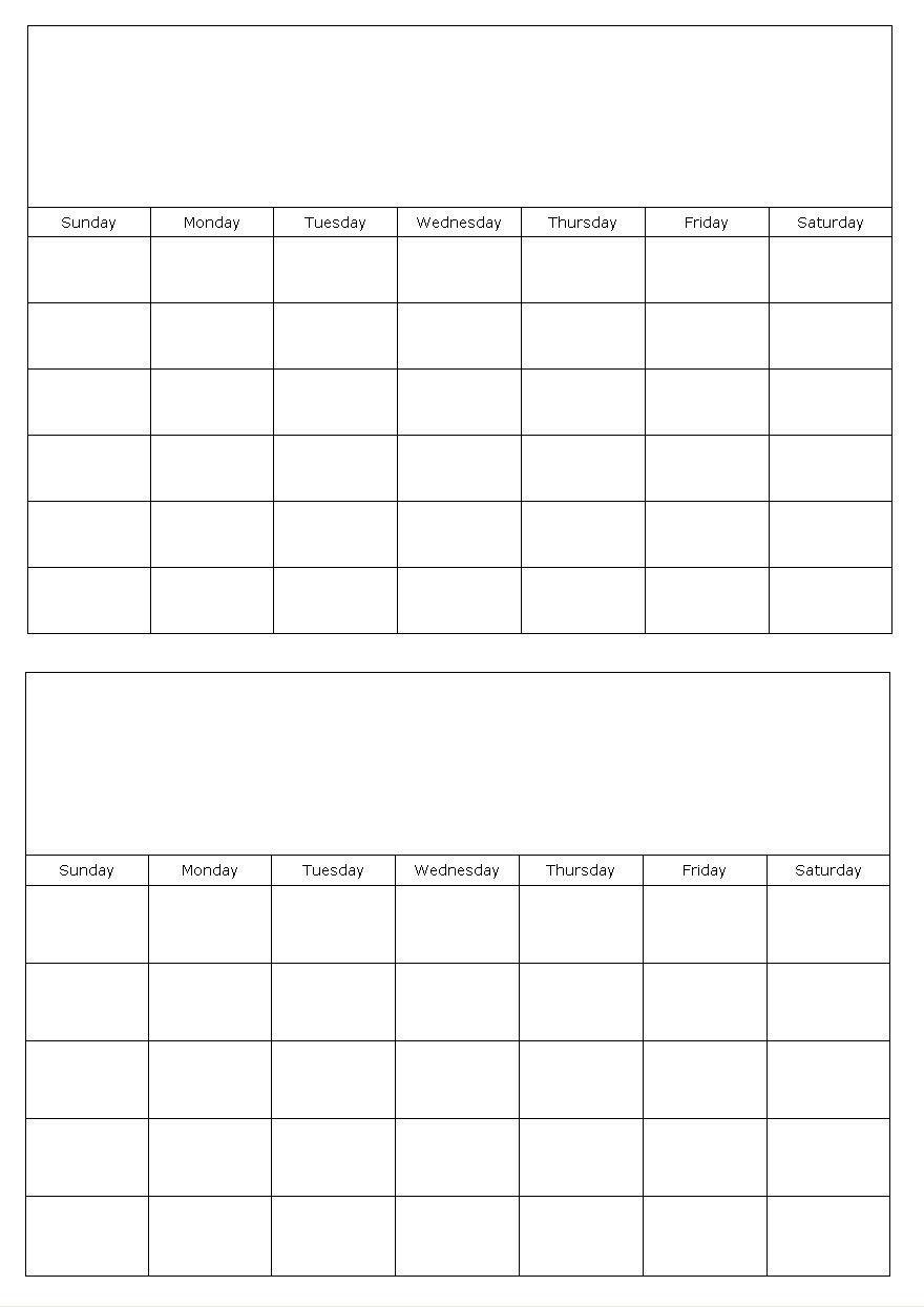 2 Month Free Printable Calendar • Printable Blank Calendar-2 Month Calendar Template Printable