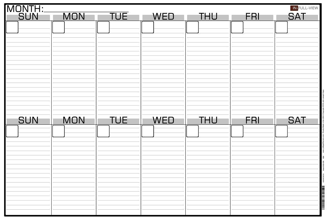 2 Week Blank Calendar Calendar Printable Free Free 2 Week-Two Paged Blank Printable Calendar