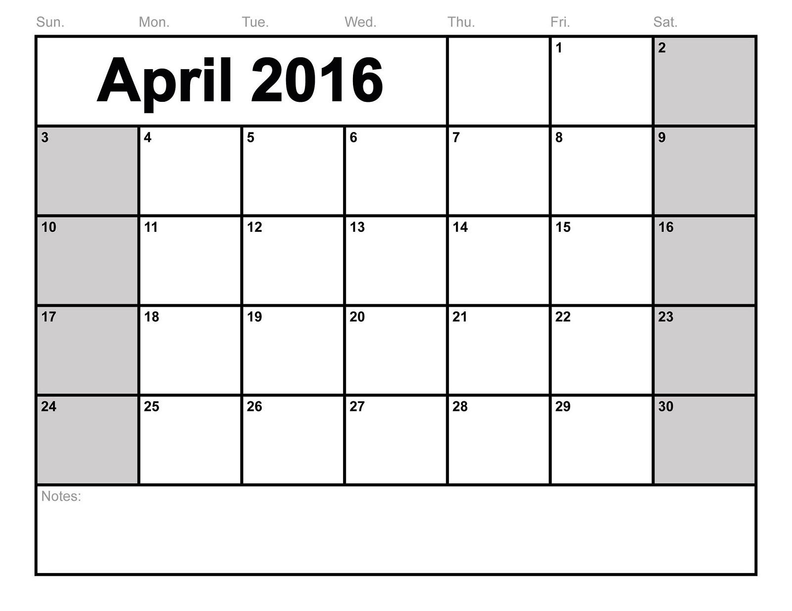 2016 Blank Calendars To Print   Activity Shelter-Us Printable Blank Calendars