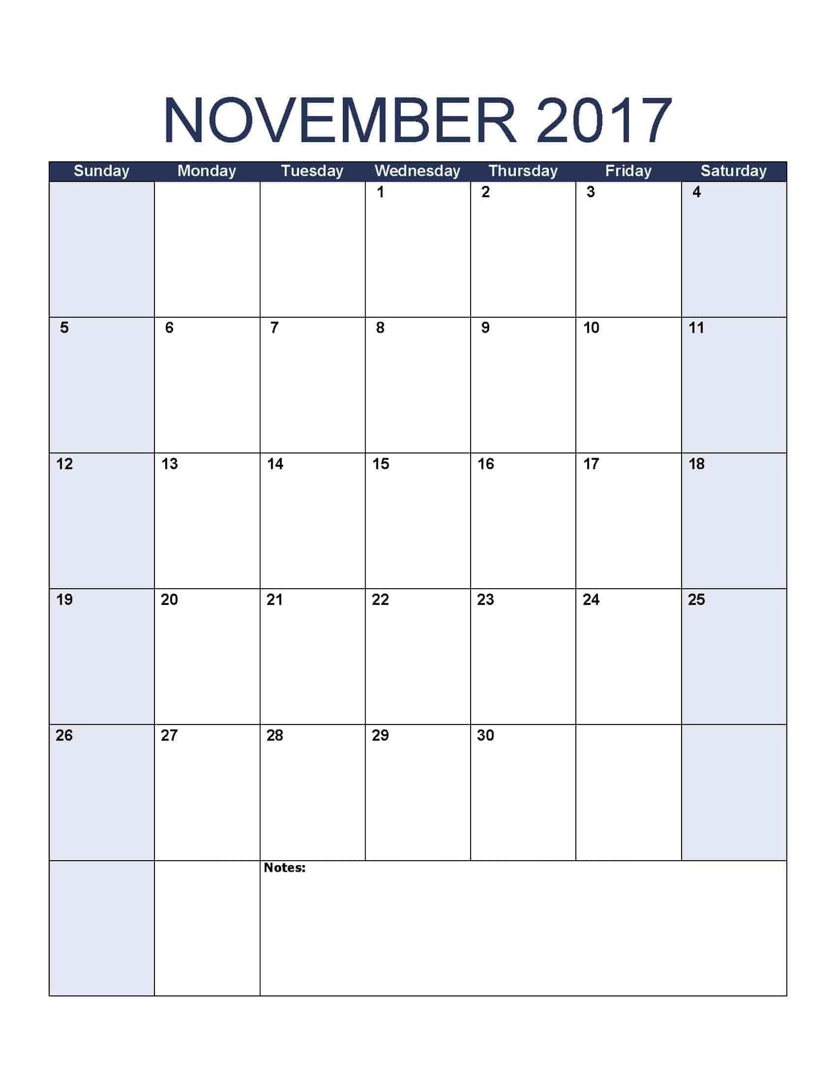 2017 Calendar - Free, Printable Calendar Templates-8.5 By 11 Blank Calendar Month