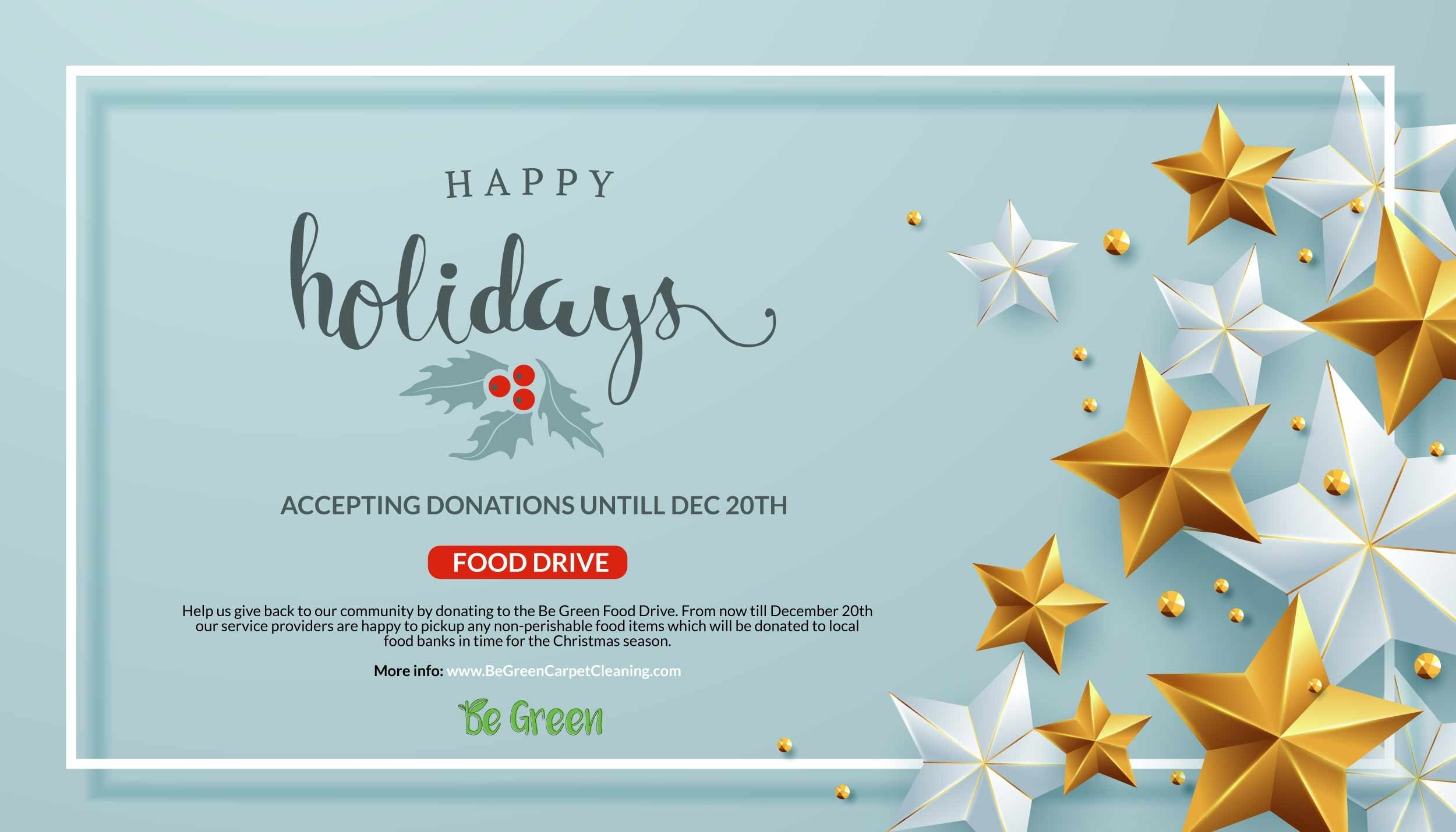 2017 Holiday Food Drive - Donations Accepted Until December-Food Holidays In The U.s