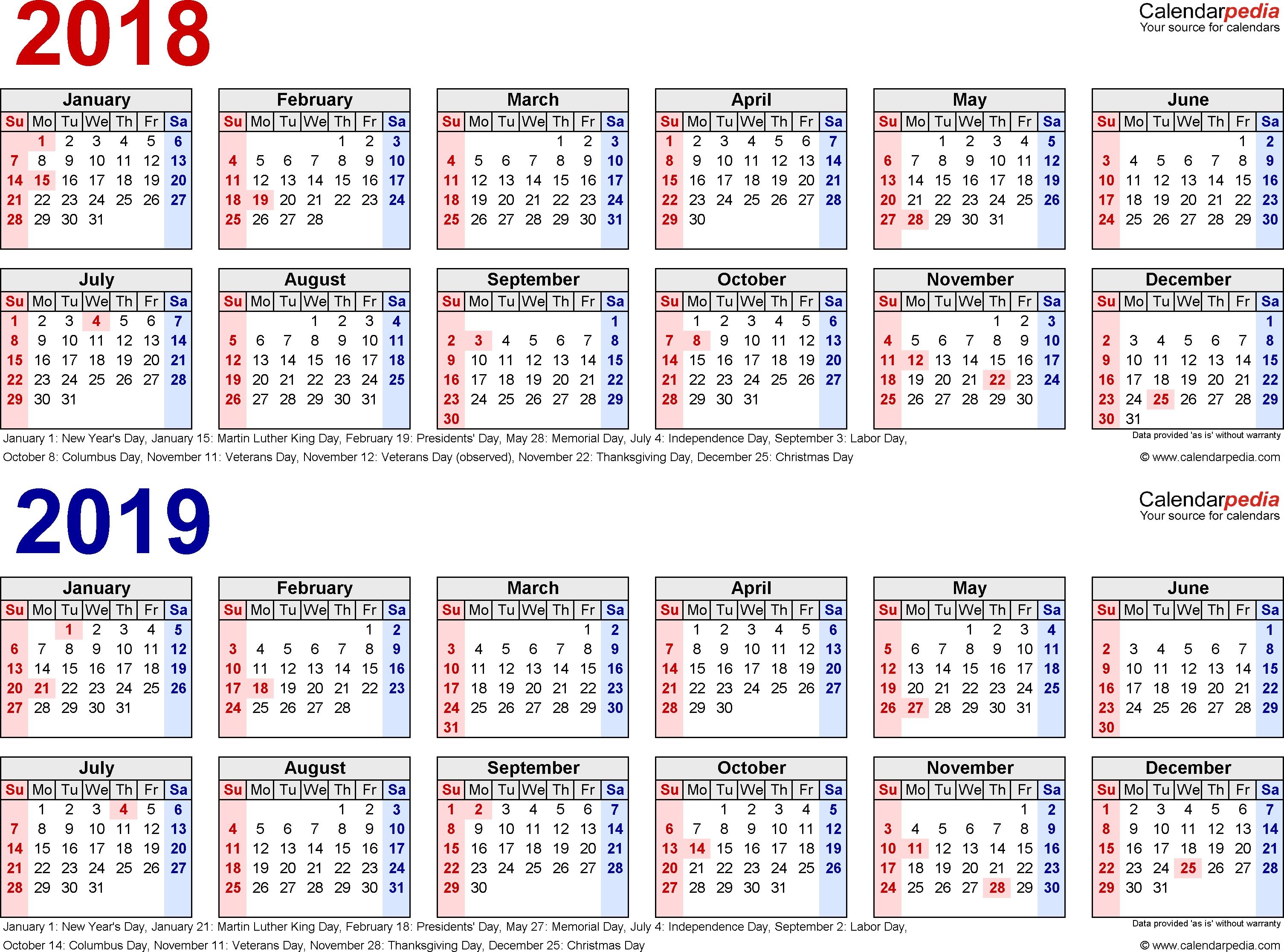 2018 2019 Calendar Free Printable Two Year Pdf Calendars-Monthly Wellness Calendar 2020 Pdf