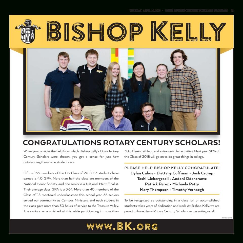2018 Boise Rotary Century Scholars - Boise High School-Bishop Kelley 2020 Holidays