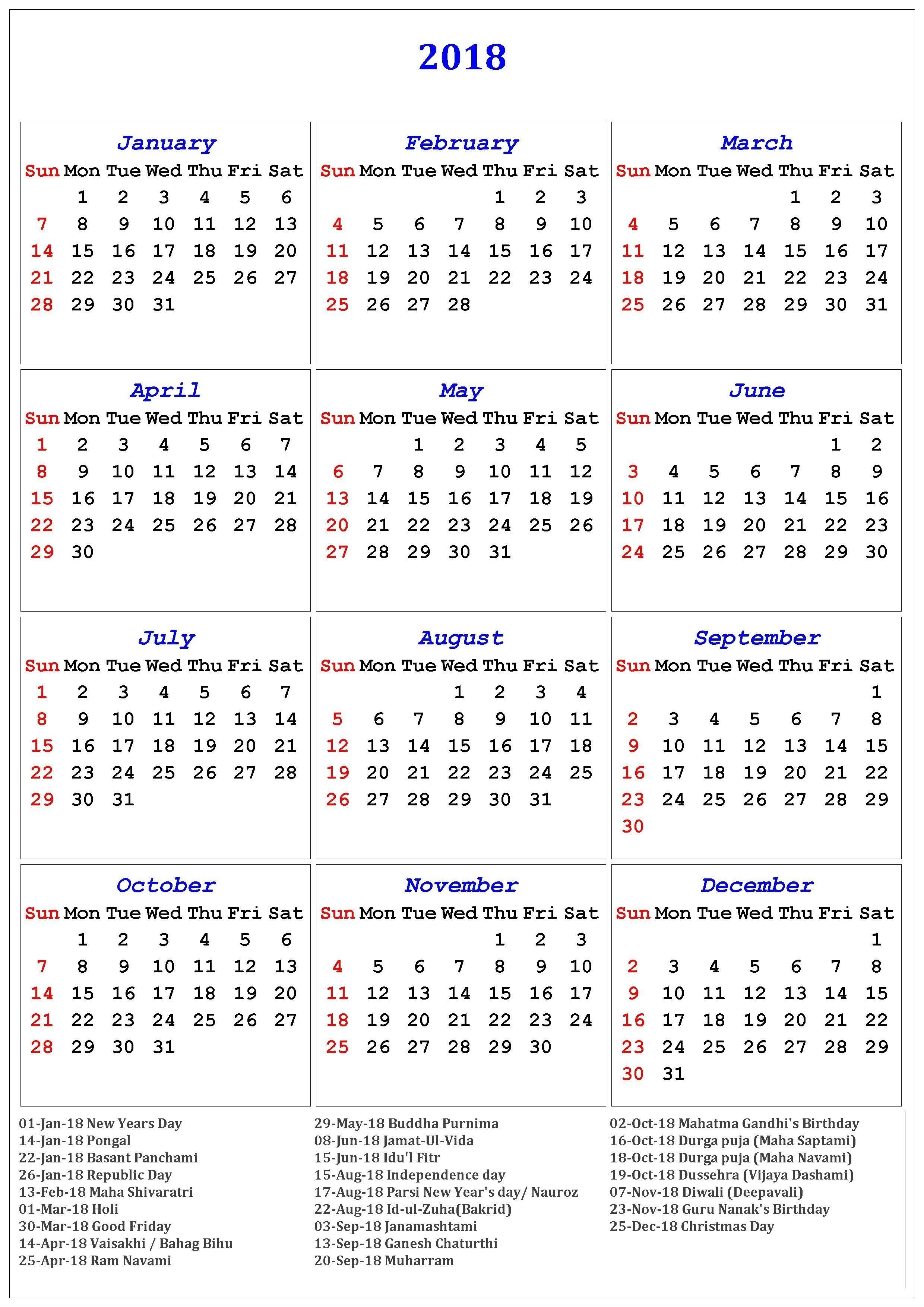 2018 Calendar Of Holidays | November Calendar | November-List Of Holidays 2020
