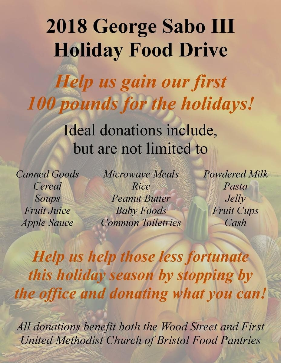 2018 Holiday Food Drive-Food Holidays In The U.s