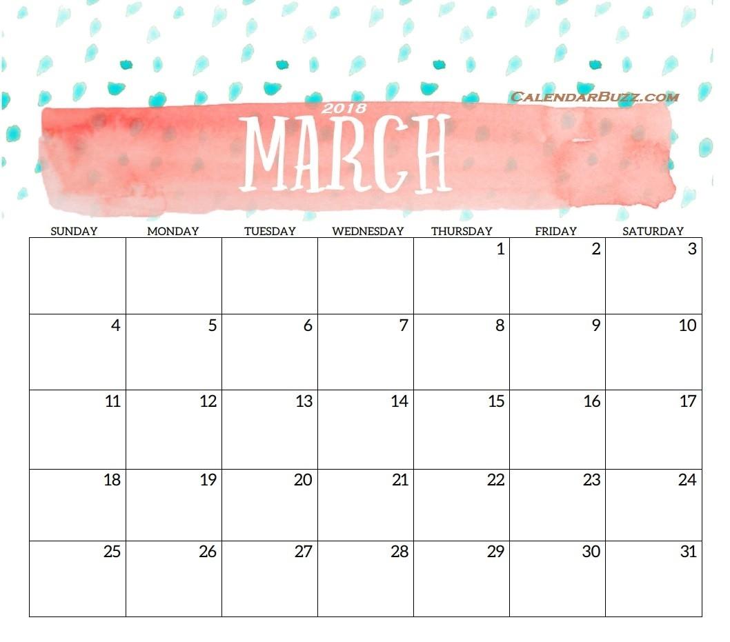 2018 Monthly Printable Templates | Latest Calendar-8X 10 Monthly Calaendar Printable