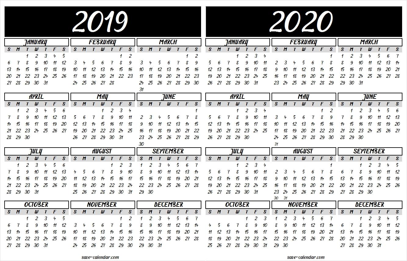 2019 2020 Calendar Printable | 2019 Calendar | Calendar 2020-Monthly Calendar 2020 Quran