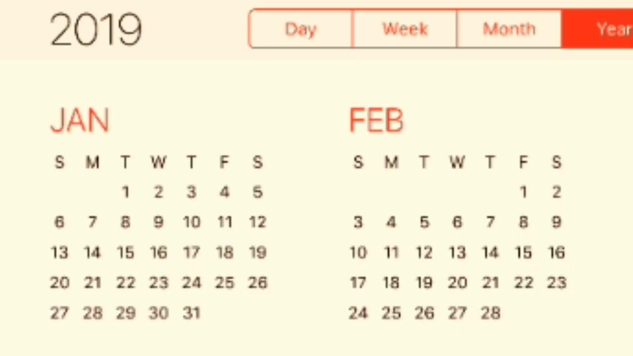2019 Calendar-January 2020 Calendar Urdu
