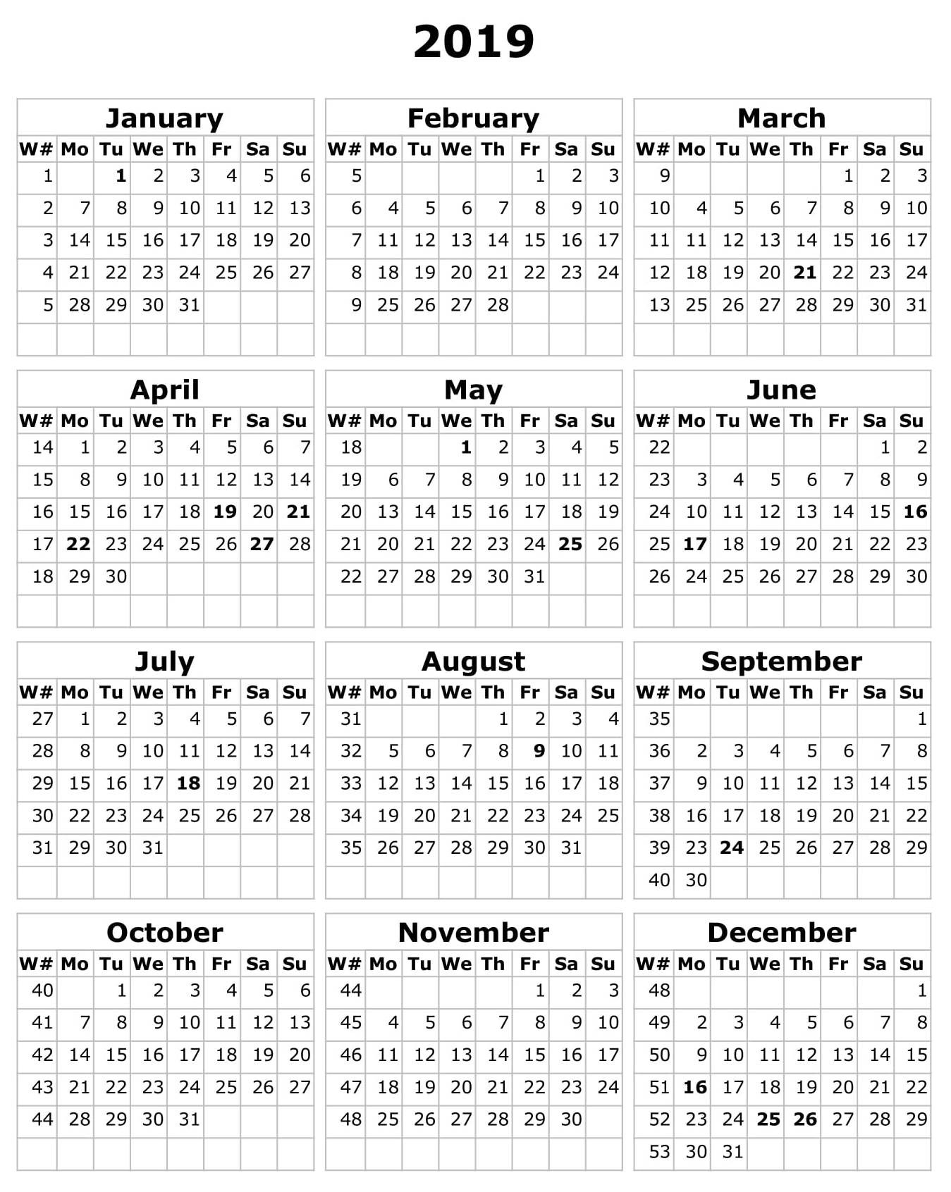 2019 Calendar Template Excel South Africa – Free Calendar-Calendar Template South Africa