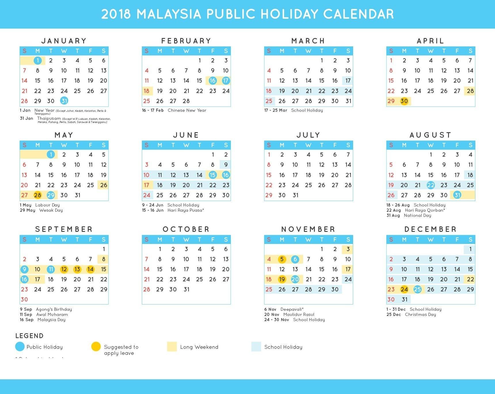 2019 Federal Holiday Calendar Download   2019 Holiday-Calendar 2020 School Holidays In Sarawak