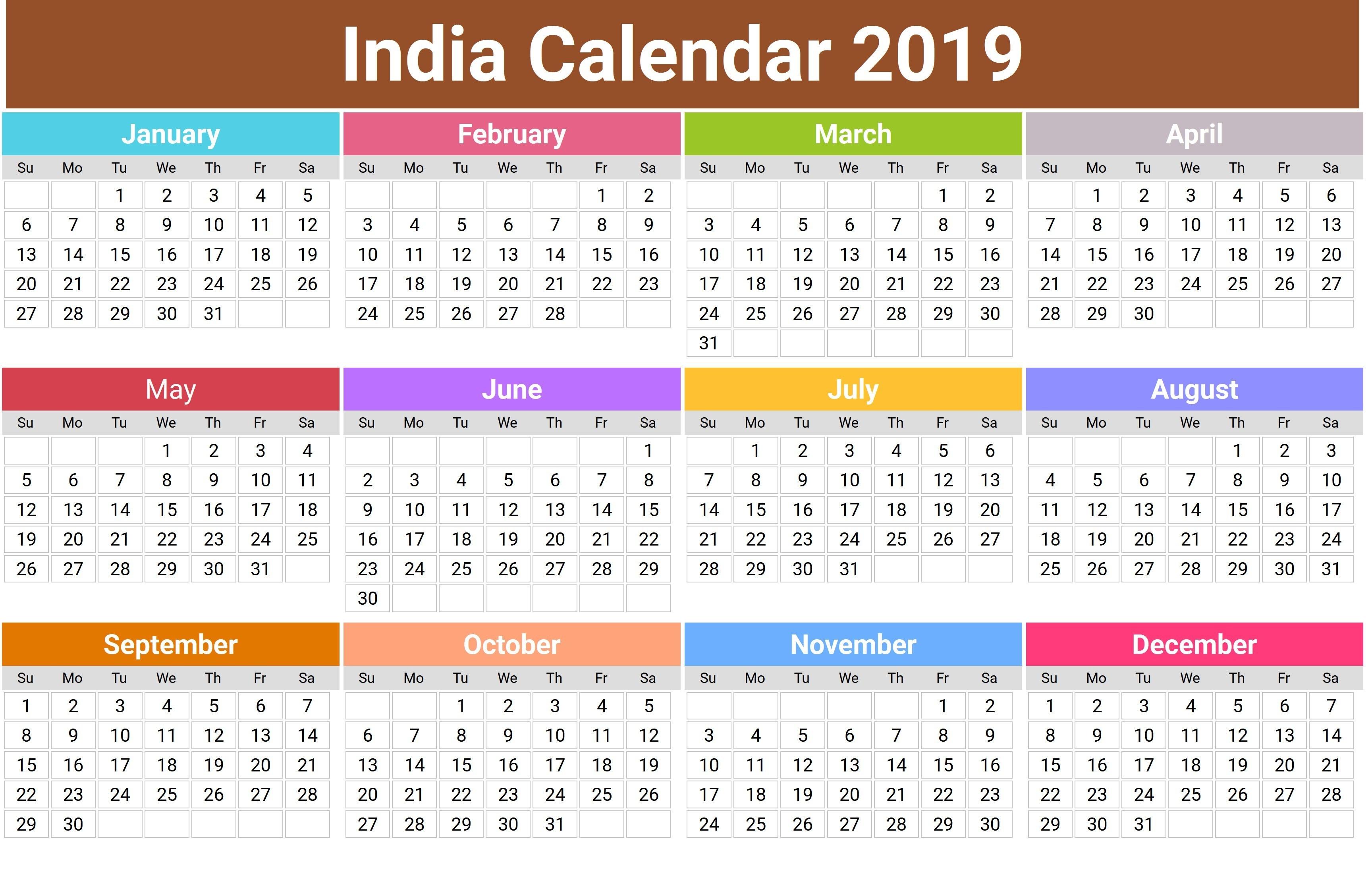 2019 Hindu Calendar With Tithi | Tyohar, Holidays, Festivals-Calendar 2020 Holidays Hindi
