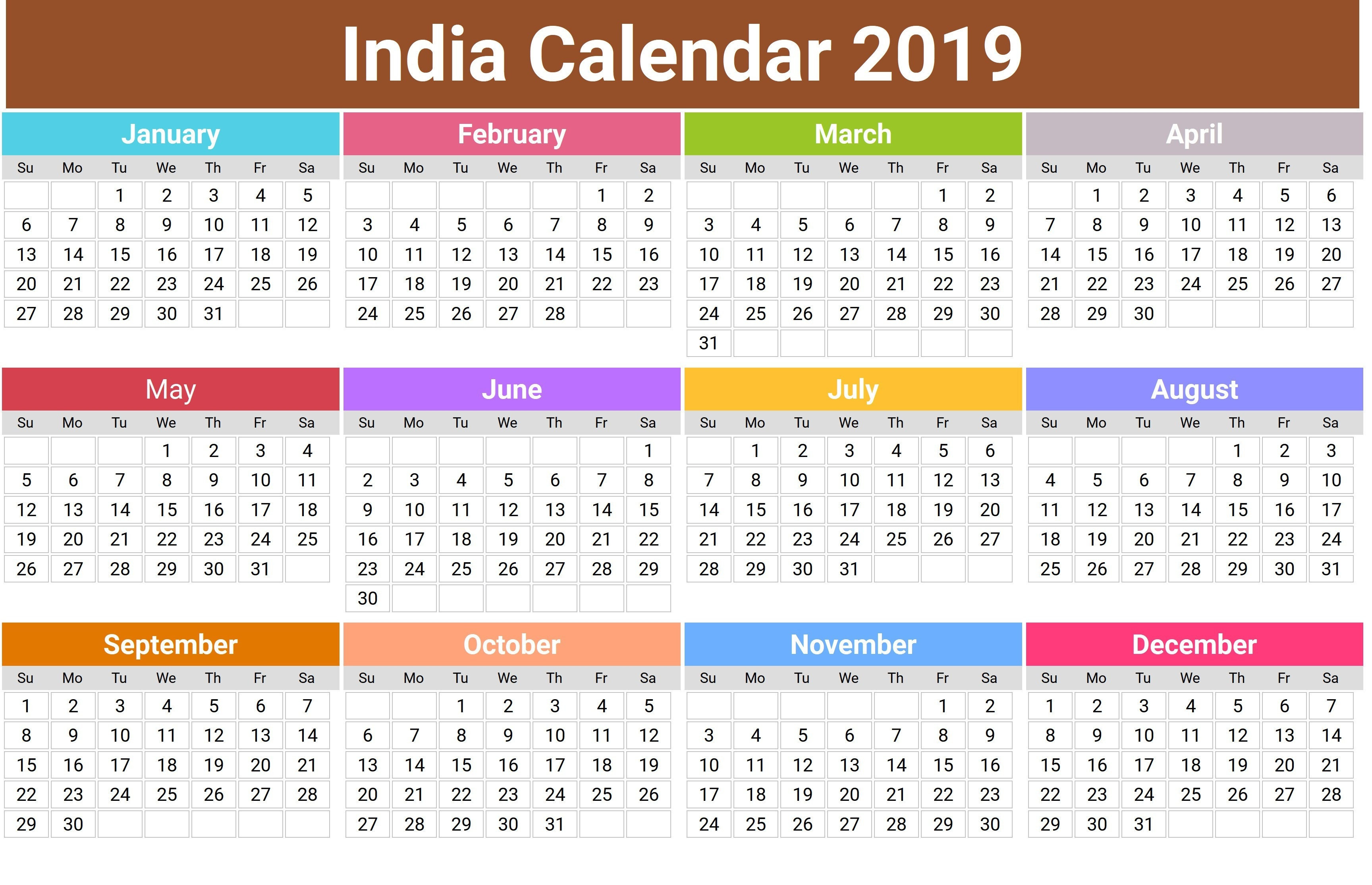 2019 Hindu Calendar With Tithi | Tyohar, Holidays, Festivals-January 2020 Hindu Calendar
