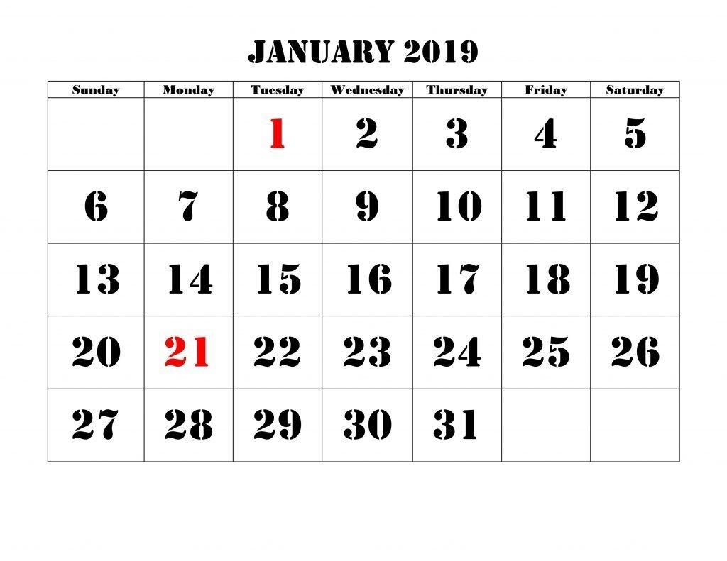 2019 January Christmas Countdown Calendar #printable | Blank-Printable Holiday Countdown Calendar Template