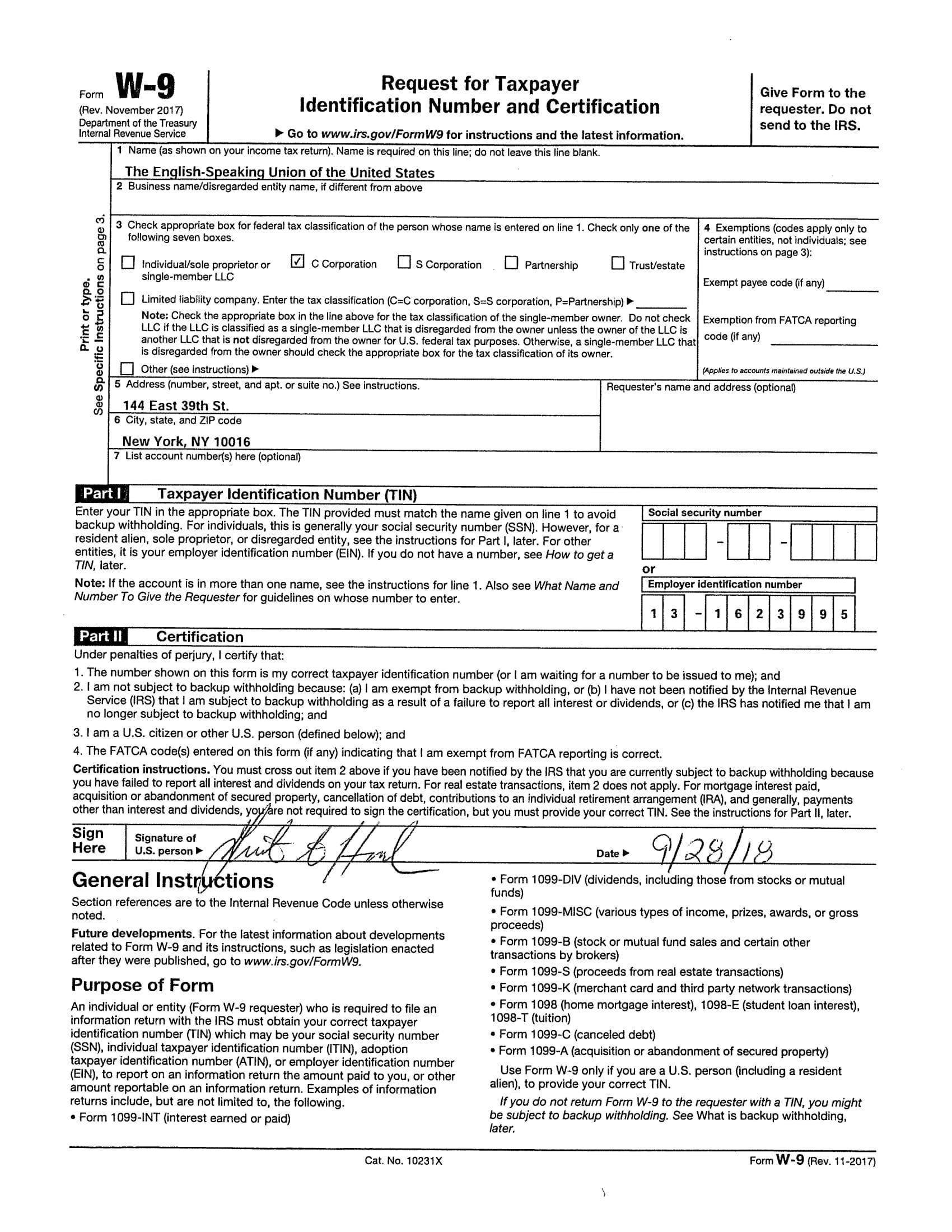 2019 W9 | Calendar Template Printable-Blank Printable W-9 Form 2020