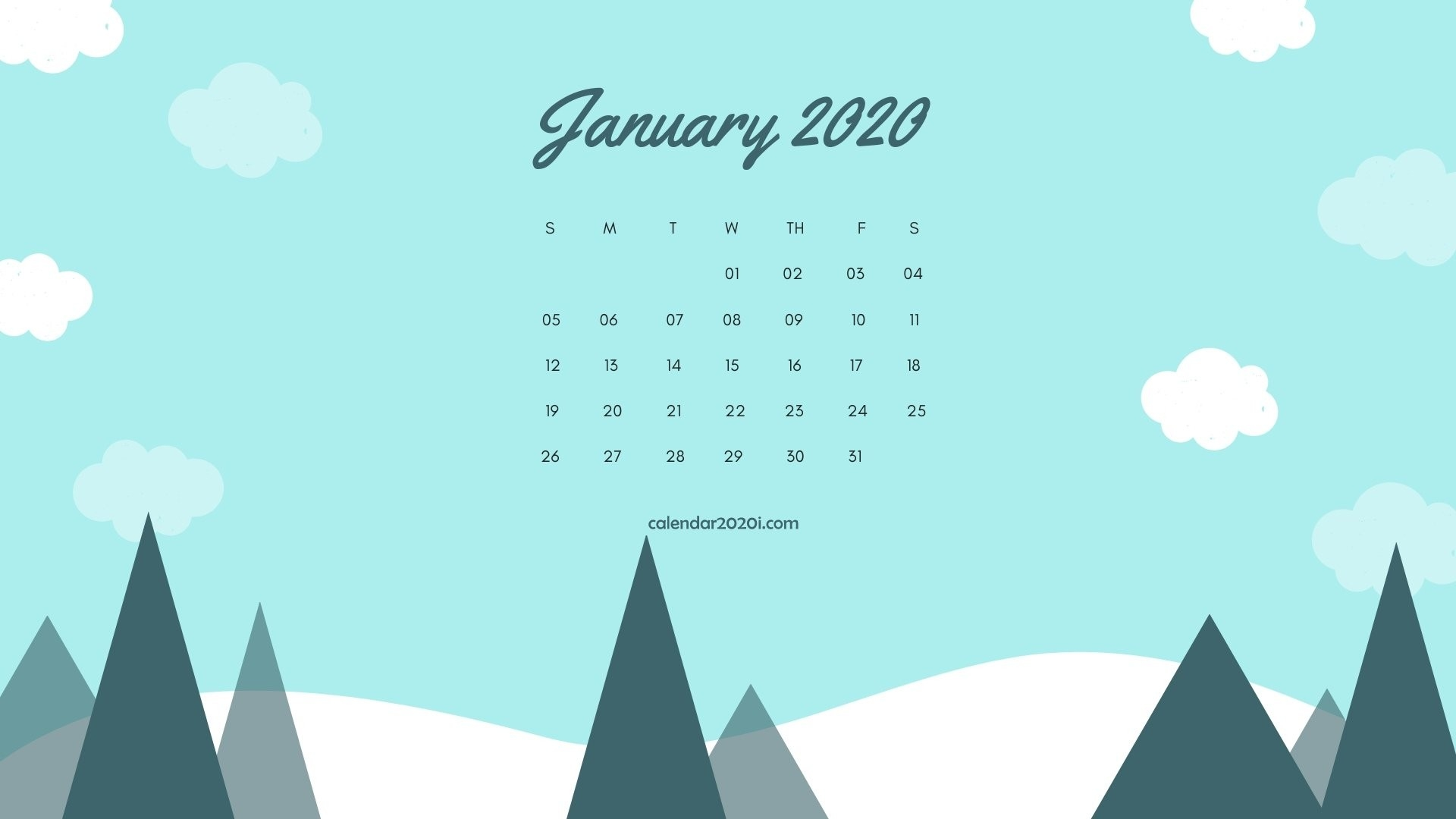 2020 Calendar Monthly Hd Wallpapers | Calendar 2020-January 2020 Calendar Wallpaper