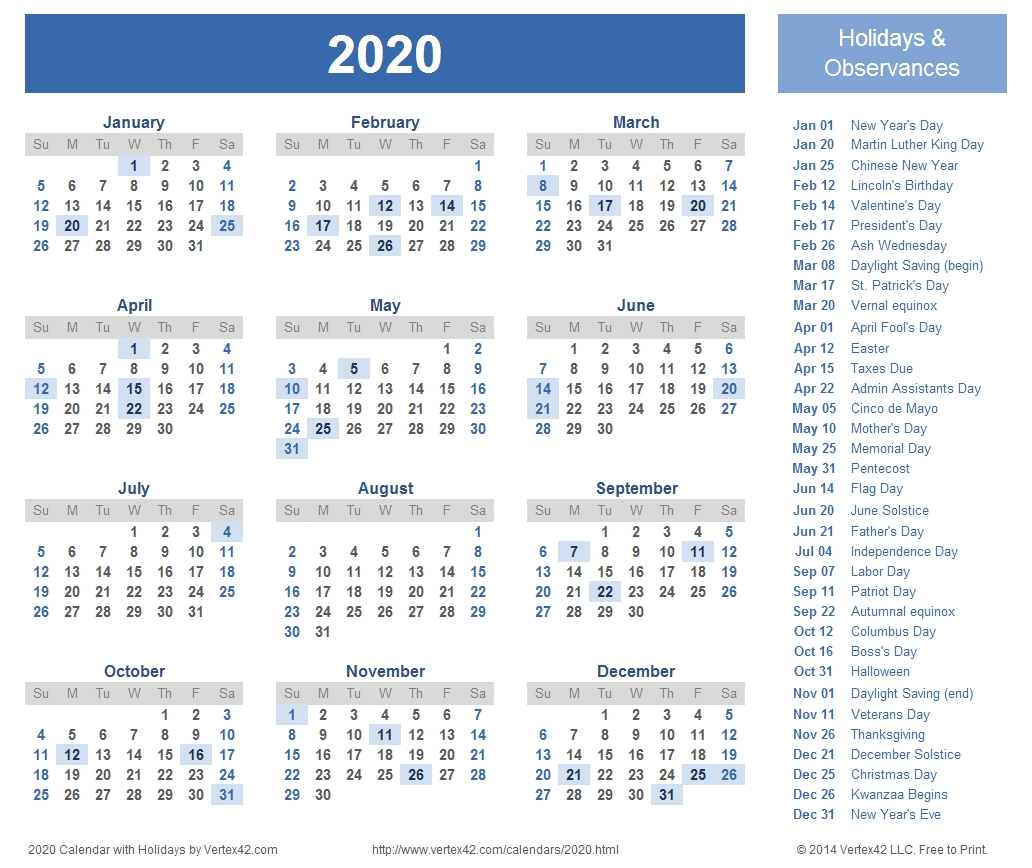 2020 Calendar Prints For Planning! | Planner | Calendar 2018-2020 Printable Calendar Templates Uk