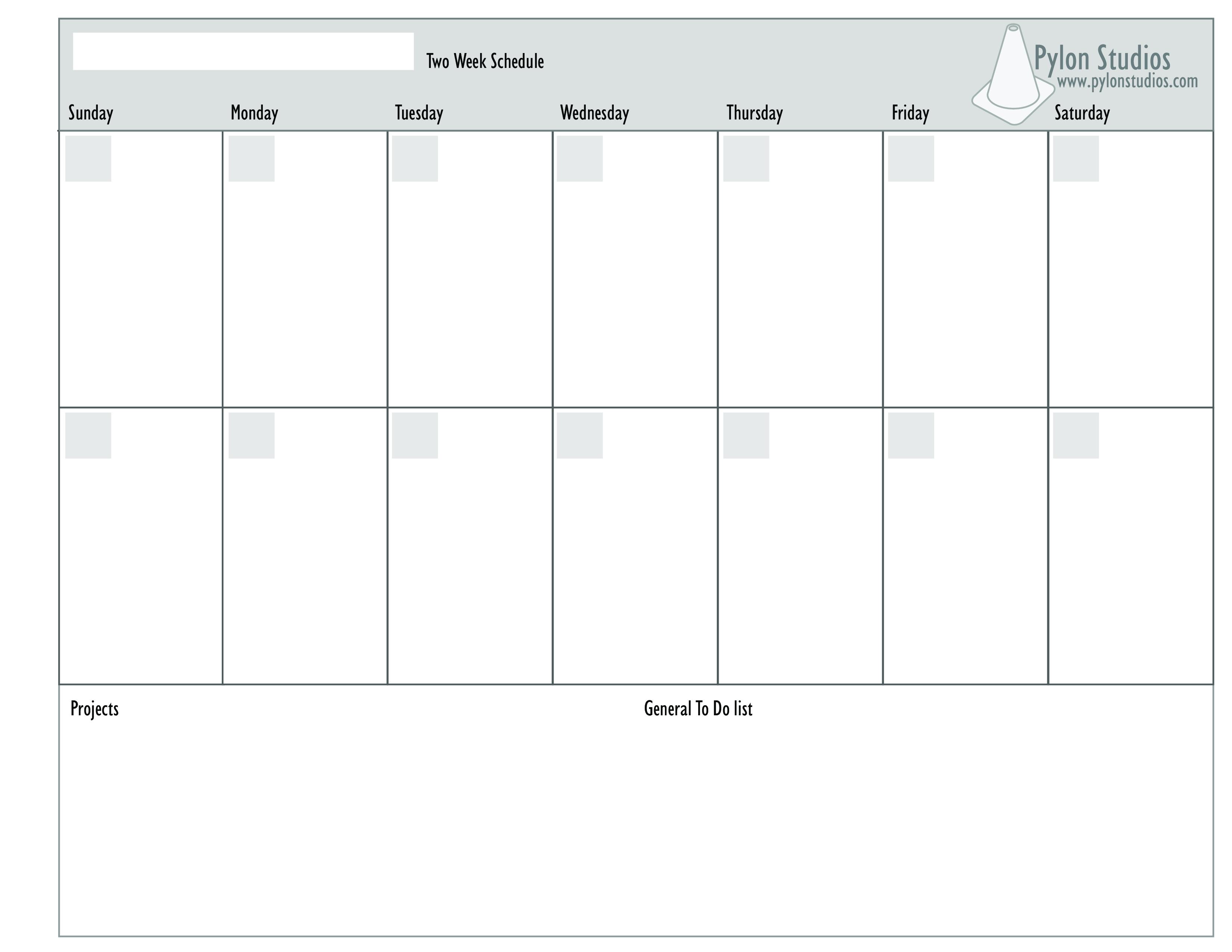 26 Expository 2 Week Blank Calendar-Printable 2 Week Blank Calendar Template