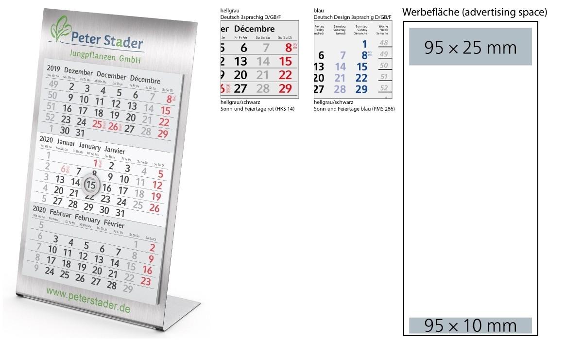 3-Month Calendar 2020 Desktop 3 Steel 1-Year | 3-Month-Monthly Wellness Calendar 2020 Pdf