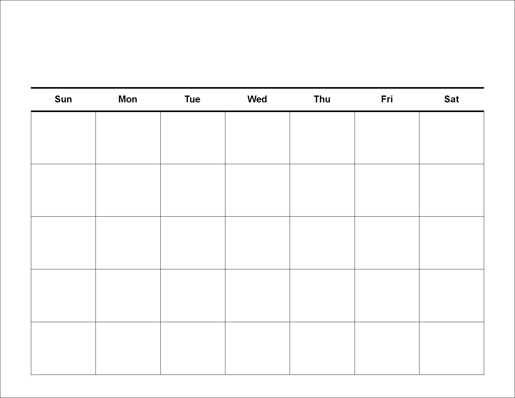 30 Day Blank Calendar Template 2 Week Blank Calendar-Blank Template For 30 Days
