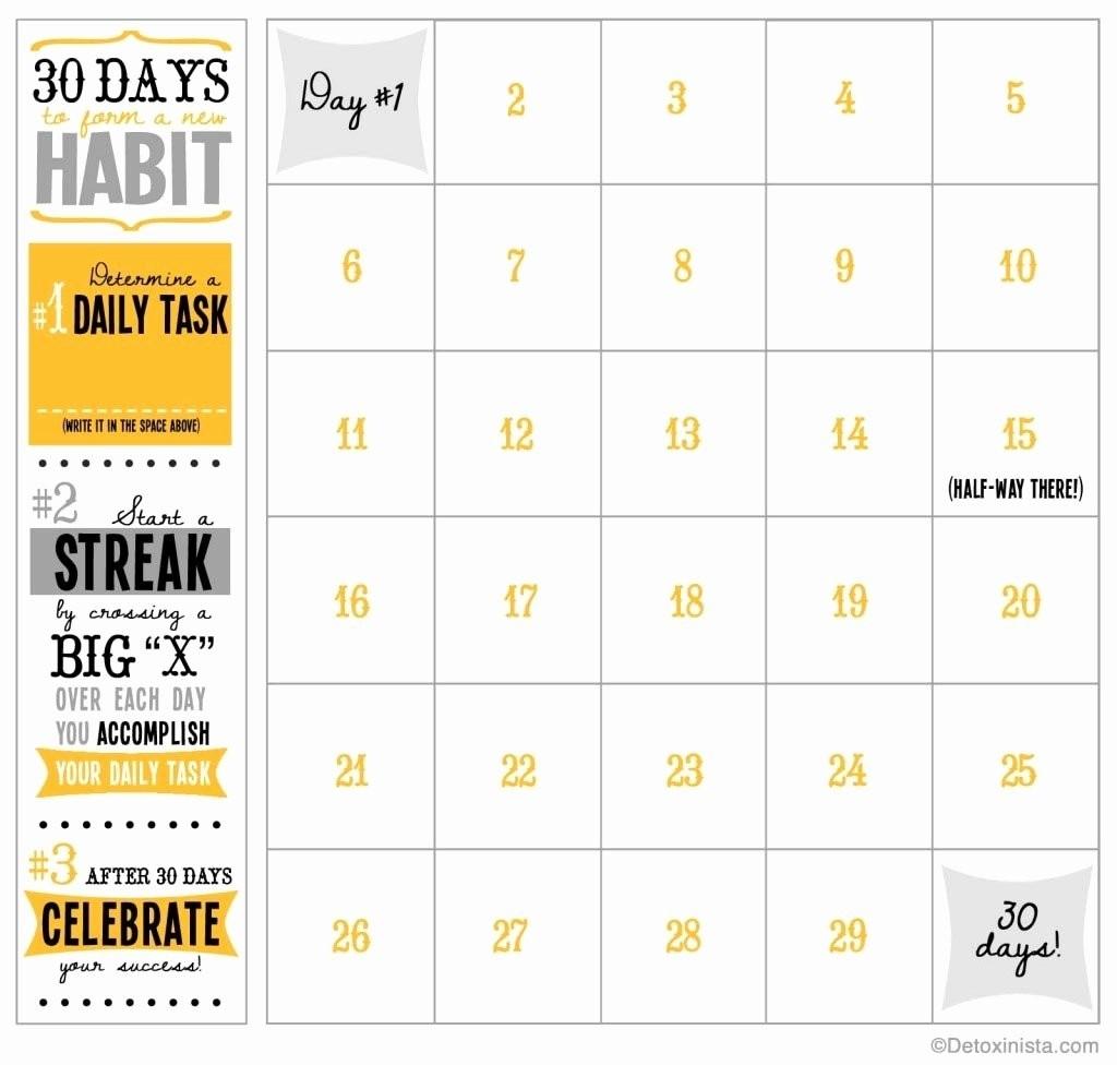 30 Day Calendar Template Inspirational Blank 30 Day Calendar-Blank Template For 30 Days