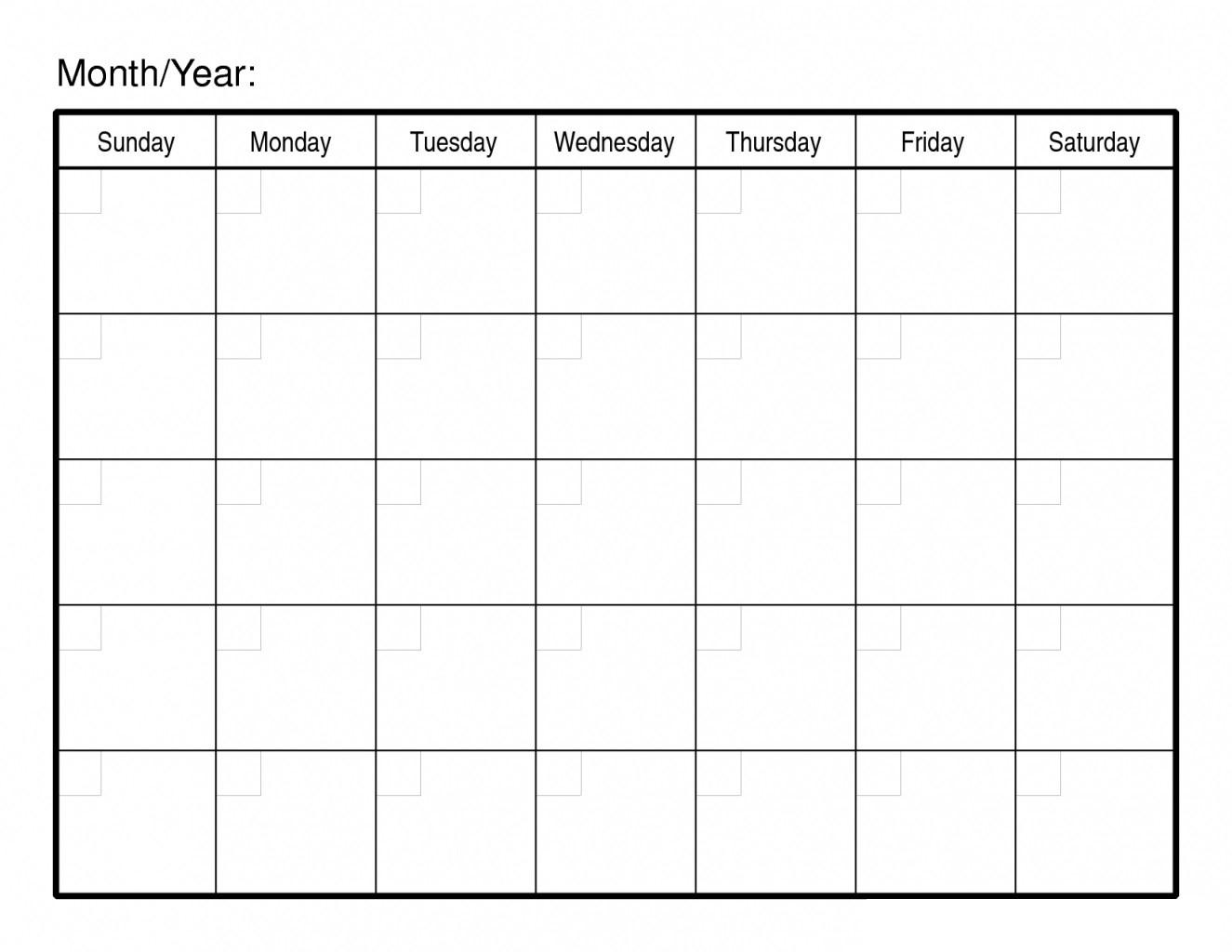 30 Day Free Blank Calendar Printable Template Free Printable-Blank Template For 30 Days