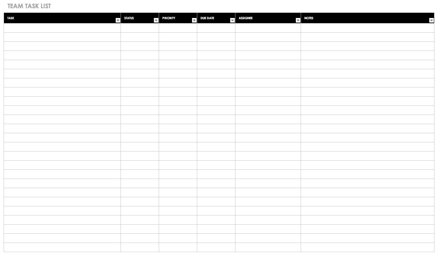 30+ Free Task And Checklist Templates | Smartsheet-Monthly Calendar List Format