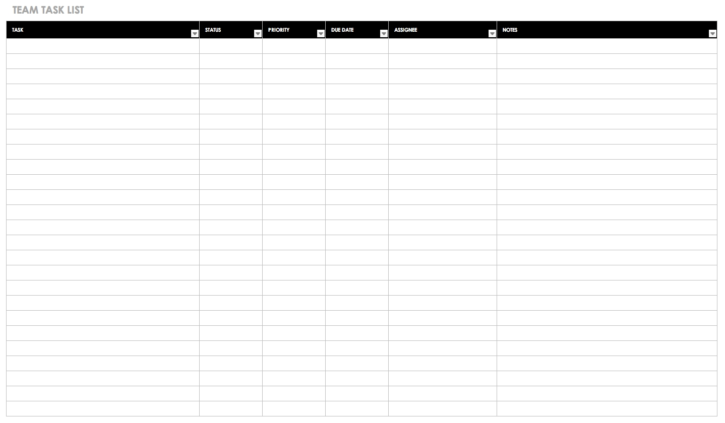 30+ Free Task And Checklist Templates   Smartsheet-Monthly Calendar List Template