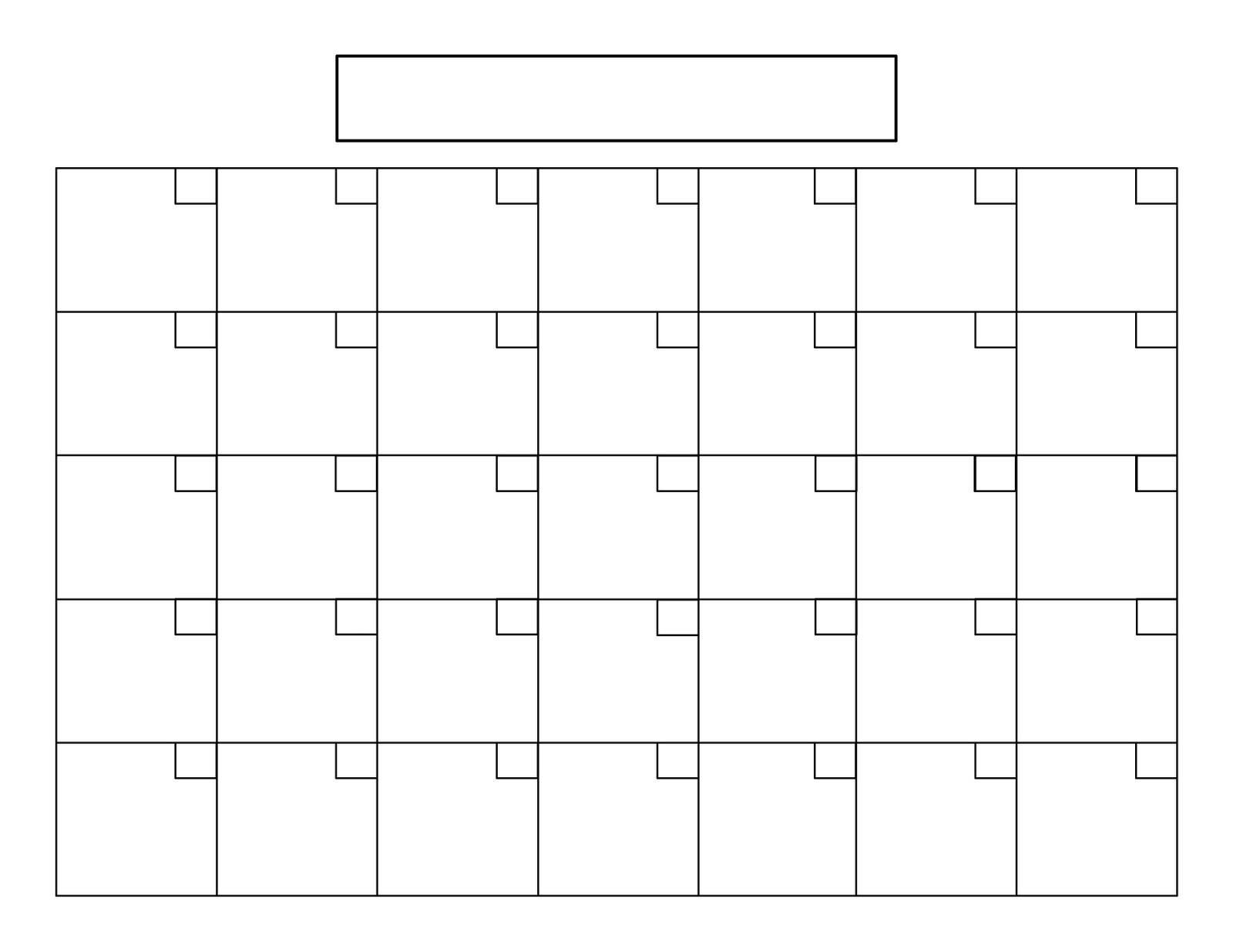 5 Week Calendar Template • Printable Blank Calendar Template-Template Printable Calendar 5 Weeks
