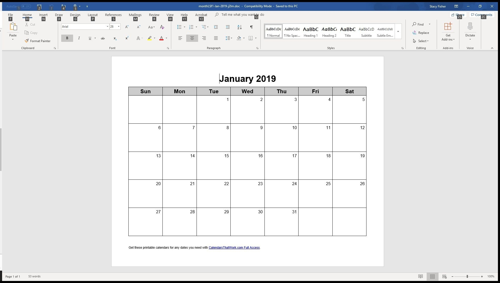 7 Top Place To Find Free Calendar Templates For Word-Monthly Calendar That Can Be Edited