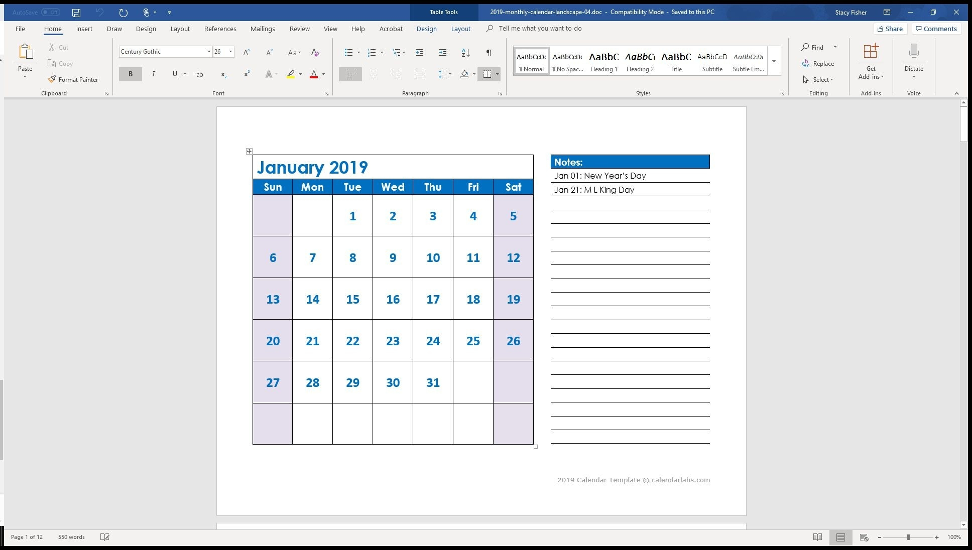 7 Top Place To Find Free Calendar Templates For Word-Printable Monthly Calendar That I Can Edit