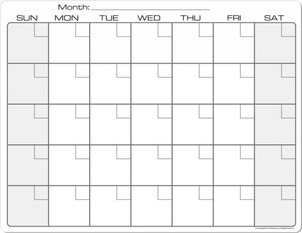 8.5 X 11 Printable Calendar | Calendar Template 2019-8.5 X 11 Blank Printable Calender