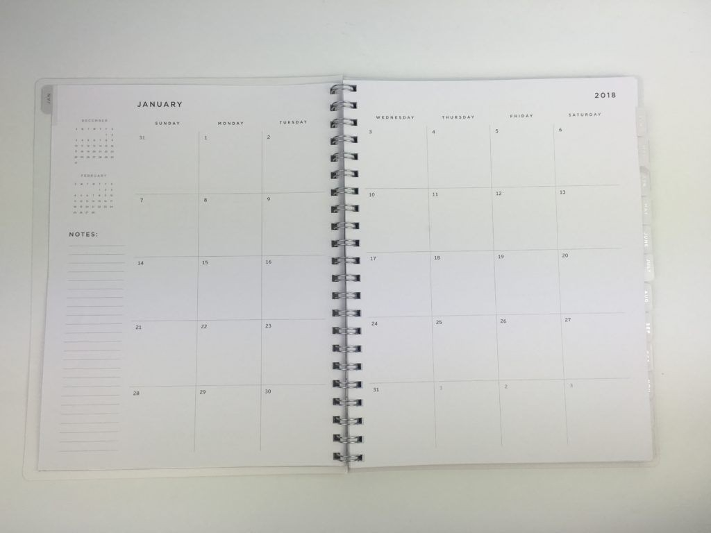 American Crafts Weekly Planner Review (Pros, Cons & A Video-Spiral Bound Monthly Calendar